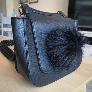 Black Anthropologie-Jules Kae crossbody pompom bag